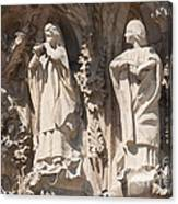 Basilica Sagrada Familia Nativity Facade Detail Canvas Print