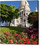 Basilique Du Sacre Coeur Canvas Print