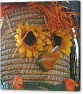 Basket Head Canvas Print