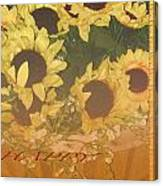 Basket Of Sun Shine Card Canvas Print