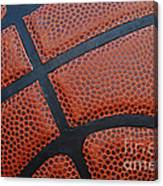 Basketball - Leather Close Up Canvas Print