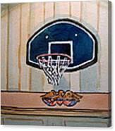 Basketball Hoop Sketchbook Project Down My Street Canvas Print