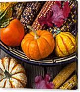 Basketful Of Autumn Canvas Print
