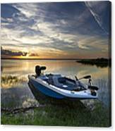 Bass Fishin' Evening Canvas Print