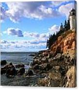 Bass Harbor Head Seascape Canvas Print