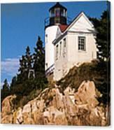 Bass Harbor Light Acadia National Park Maine Canvas Print