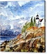 Bass harbor Canvas Print