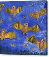 Bat People At The Pipistrelle Party Canvas Print