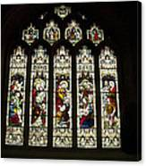 Bath Abbey Stained Glass Canvas Print