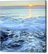 Bathed In Blue Canvas Print