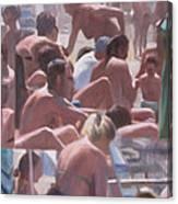 Bathers - I Bagnanti Canvas Print