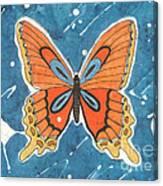 Batik Butterfly Canvas Print
