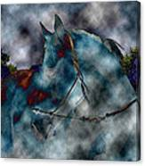 Battle Cloud - Horse Of War Canvas Print