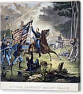 Battle Of Chantlly, 1862 Canvas Print