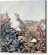 Battle Of Franklin November 30th 1864 Canvas Print