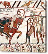 Battle Of Hastings Bayeux Tapestry Canvas Print