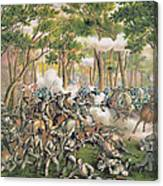Battle Of The Wilderness May 1864 Canvas Print