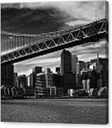 Bay Bridge And San Francisco Downtown Canvas Print