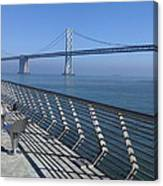 Bay Bridge From New Pier Canvas Print