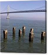 Bay Bridge On A Clear Day Canvas Print