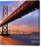 Bay Bridge To San Francisco Canvas Print