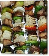 Bbq Grilled Vegetables Canvas Print