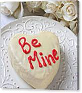 Be Mine Heart Cake Canvas Print