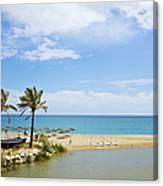 Beach And Sea On Costa Del Sol Canvas Print