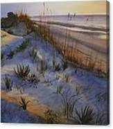 Beach At Dusk Canvas Print