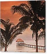 Beach Belize Canvas Print