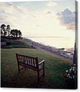 Beach Bench Canvas Print