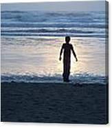 Beach Boy Silhouette Canvas Print