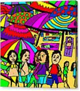 Beach Chat Canvas Print