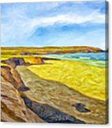Beach Cliffs South Of San Onofre Canvas Print