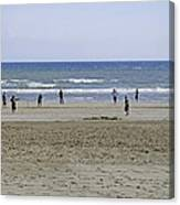 Beach Cricket - Bridlington Canvas Print
