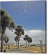 Beach Day After Issac  Canvas Print