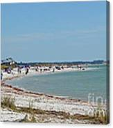 Beach Day On Honeymoon Island Canvas Print