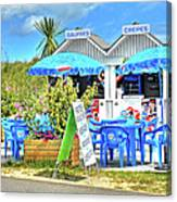 Beach Food Shack France Canvas Print