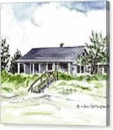 The Little House On East Beach Canvas Print