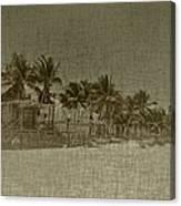 Beach Huts In A Tropical Paradise Canvas Print