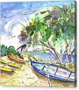 Beach In Ayia Napa Canvas Print