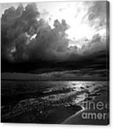 Beach In Black And White Canvas Print