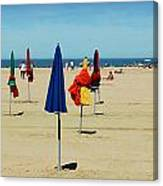 Beach In Deauville Canvas Print
