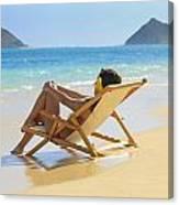 Beach Lounger II Canvas Print
