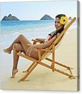 Beach Lounger Canvas Print
