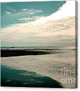 Beach Reflection Canvas Print
