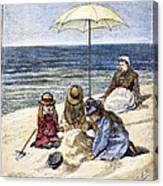 Beach Scene, 1879 Canvas Print