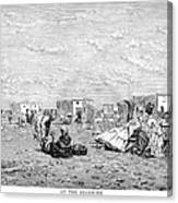 Beach Scene, 19th Century Canvas Print