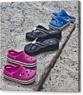 Beach Shoes Canvas Print