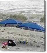 Beach Umbrells 40 Canvas Print